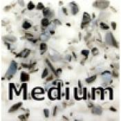 Black/White Glass Frit (8 oz.)