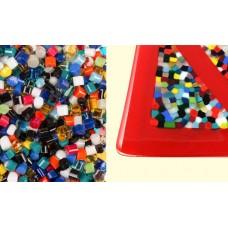 Glass Dots - Mardi Gras