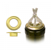 Brass Ring Holders for Glass Wicks (12 pc.)