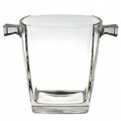 Sterling Glass Ice Bucket