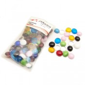 Assorted Colors Glass Pebbles