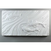 Glass Texture Tile - Koi Fish