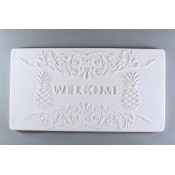 Glass Texture Tile - Pineapple Welcome Sign