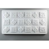 Glass Texture Tile - Fleur De Lis