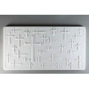Glass Texture Tile - Crosses