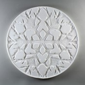 Glass Texture Tile - Snow Flake Round