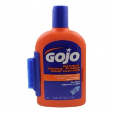 Gojo Natural Orange Pumice Hand Cleaner with scrubby