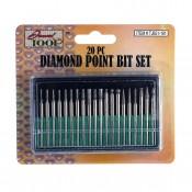 20 pc. Diamond Point Bit Set
