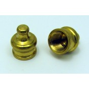 "Solid Brass Knob - 11/16""H 1/8""IP"