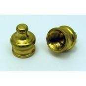 """Solid Brass Knob  (Finale) - 11/16""""H 1/8""""IP"""