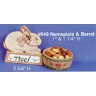 Tole Favor Barrel and Name Plate mold
