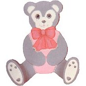 Tole Bear Clothes Hanger mold
