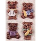 School-Bear Magnets (4) mold