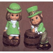 Boy and Girl Leprechauns mold