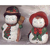 Kissing Snowpeople mold