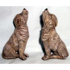 Ceramichrome 2680 Two Howling Wolf Pups Mold