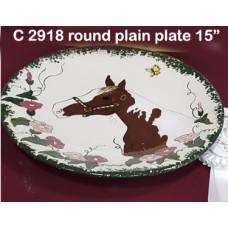 "Ceramichrome 2918 15"" Plain Platter Mold"