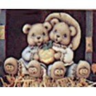 Large Scarecrow Cuddle Bears With Pump Mold
