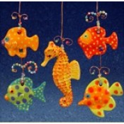 Four Small Fish and One Seahorse Mold