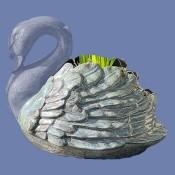 Sitting Swan Planter Mold