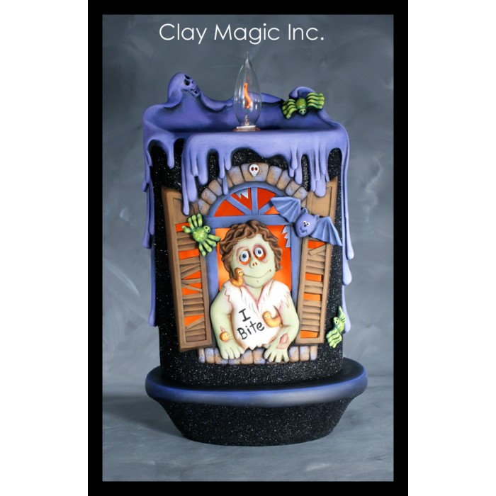 Clay Magic 3468 Zombie Huanted Candle Window Attachment Mold