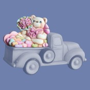 Valentine's Bear Lid For Pickup Truck 4102 Mold