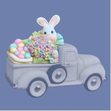 Clay Magic 4196 Easter Bunny Lid For Pickup Truck 4102 Mold
