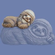 Little Dom sloth mold