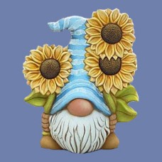 Clay Magic 4271 Sven Gnome with Sunflowers Mold