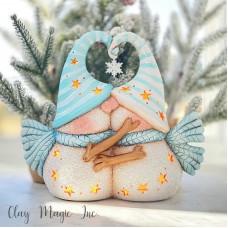 Clay Magic 4281 Kissing Snow Couple Mold