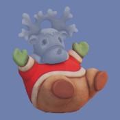 Santa Reindeer Cookie Jar Mold