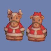 Santa Reindeer Salt & Pepper Mold