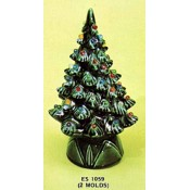 "Christmas Tree with Base, 9"" (2 Molds)"