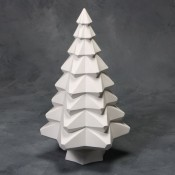 "14"" Faceted Tree Mold (Set, 2 Molds)"