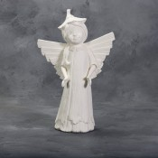 Large Weathered Wood Angel Mold