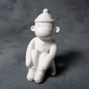 Sock Monkey Bank (Set, 2 Molds)
