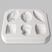 Masks & Shield African Theme Sprig Mold
