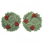 Holly Favor Dishes Mold