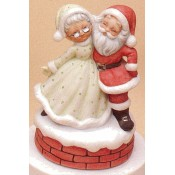 Mr. & Mrs. Dancing Santas Mold