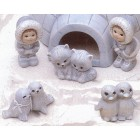 Eskimo Acc. #1 (Kids, Penguins, Dogs, Seals) Mold