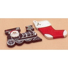 Riverview 418 Plain Ornament - Train and Stocking Mold