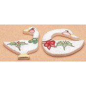Plain Ornament - Two Geese mold