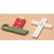 Plain Ornaments-Candle & Cross Mold