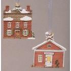 Town Hall & School Ornaments Mold
