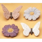 Butterfly & Flower Magnets (4 Per) Mold