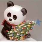 Christmas Panda Bear with Christmas Tree Mold