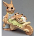 Bunnies With Wheel Barrow Mold