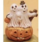 Ghost Couple in Pumpkin Mold