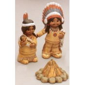Indians with Campfire Mold