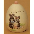 Egg with Rabbits Candy Dish Mold